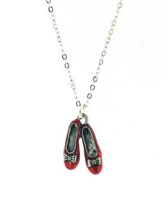 Image of Wizard Of OZ Ruby Slippers Necklace
