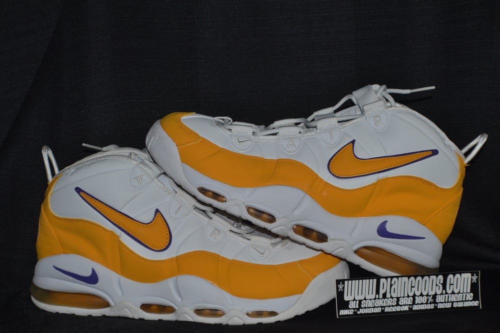 "Image of NIKE UPTEMPO MAX ""DERRICK FISHER"" LAKERS"