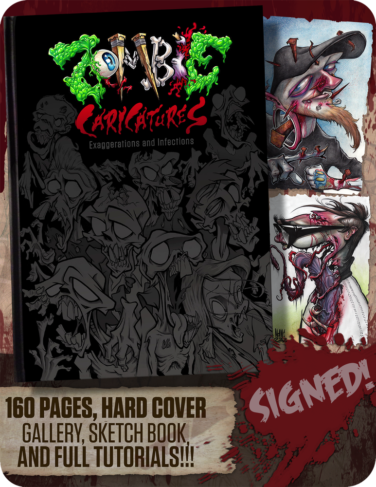 "Image of ""Zombie Caricatures: Exaggerations and Infections""           art book"