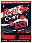 Image of Rocket From The Crypt Silkscreen Poster.