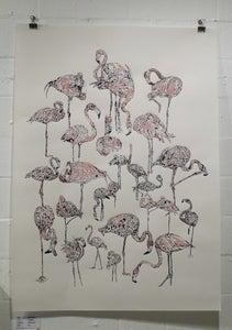 Image of Suzie Wright- Flamingoes