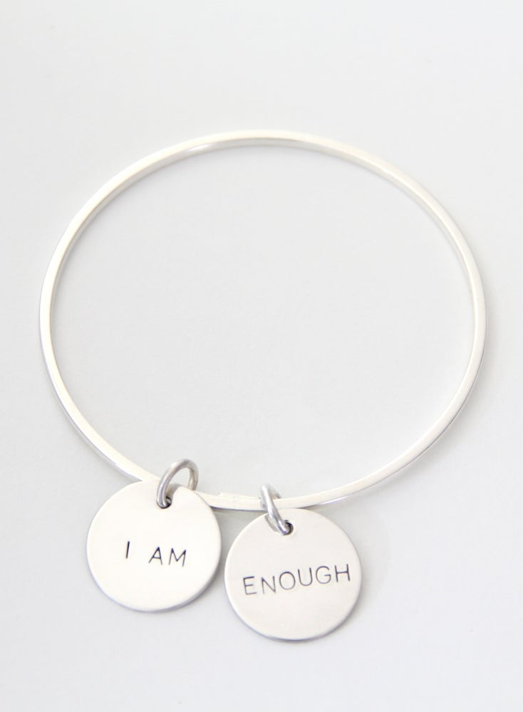 Image of I AM ENOUGH Bangle Bracelet