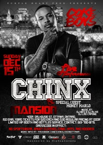 Image of Chinx Live In Ottawa (Special Guest Money Marlo)***EARLYBIRD GENERAL ADMISSION*** FREE DELIVERY