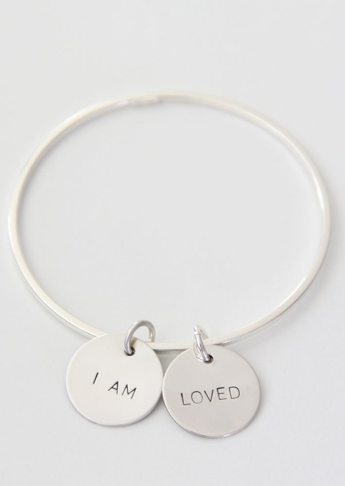Image of I AM LOVED Bangle Bracelet