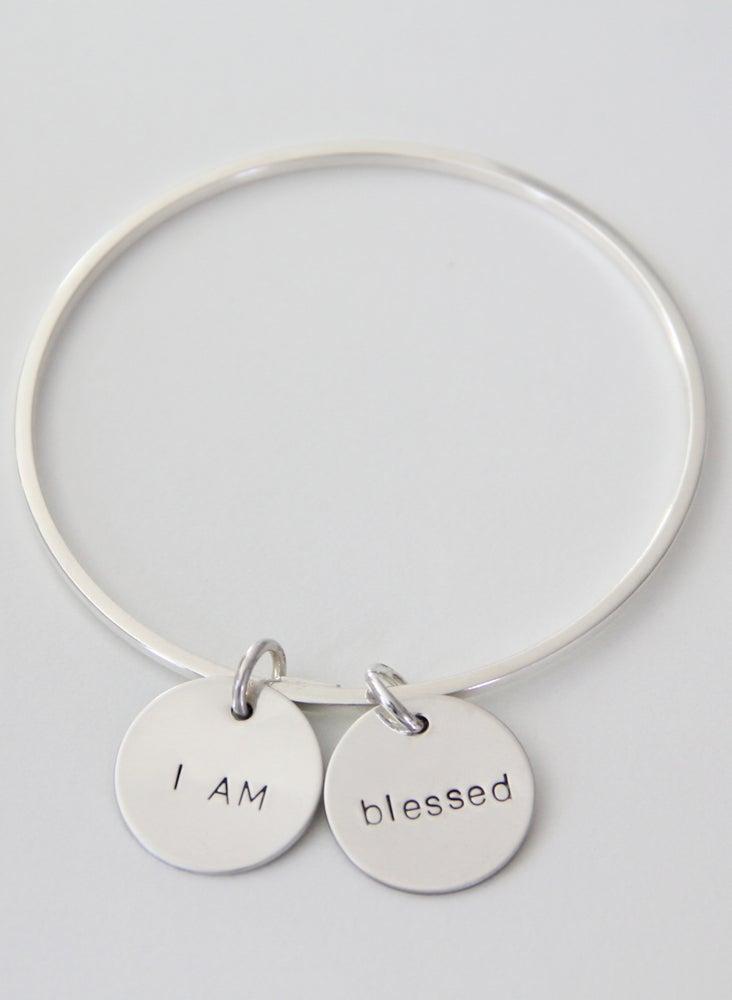 Image of I AM BLESSED Bangle Bracelet