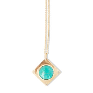 Image of Turquoise Diamond Pendant