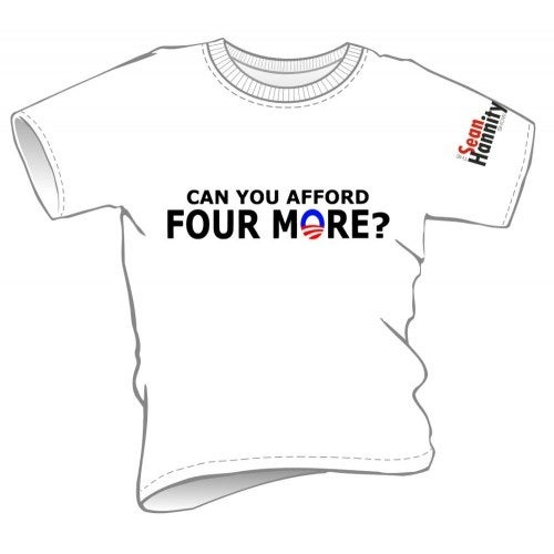 """Image of Womens - """"Can You Afford Four More?"""" T-shirts (4MoreWH/Red/Bk-L)"""