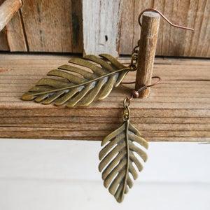 Image of Palm Leaf ear rings