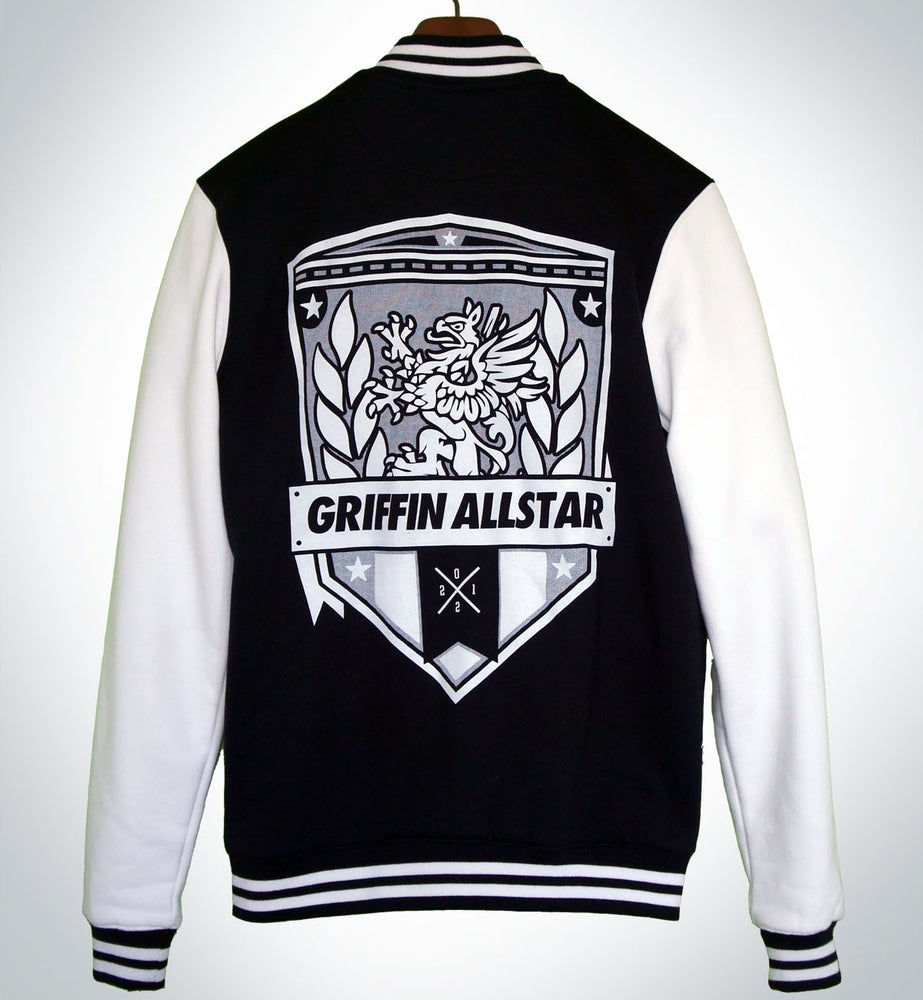 Image of Varsity Jacket Black/ White