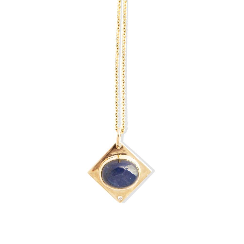 Image of Sapphire Diamond Pendant