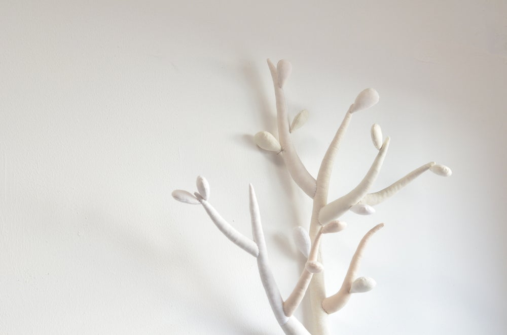 "Image of ""Angélique"" white and rose powder branch"