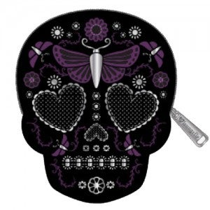 Image of Butterfly Skull Coin Purse by Loungefly