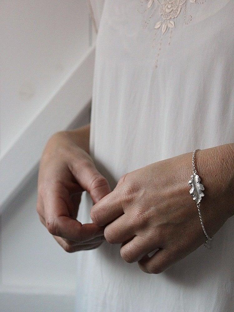 Image of oak leaf bracelet