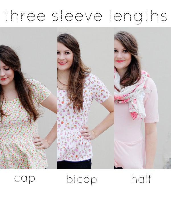 Image of women's PENELOPE knit PEPLUM PDF +