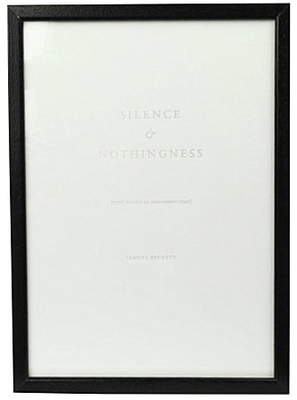 """Image of SILENCE ART PRINT Nº3 """"Every word is like an unnecessary stain..."""" Samuel Beckett"""