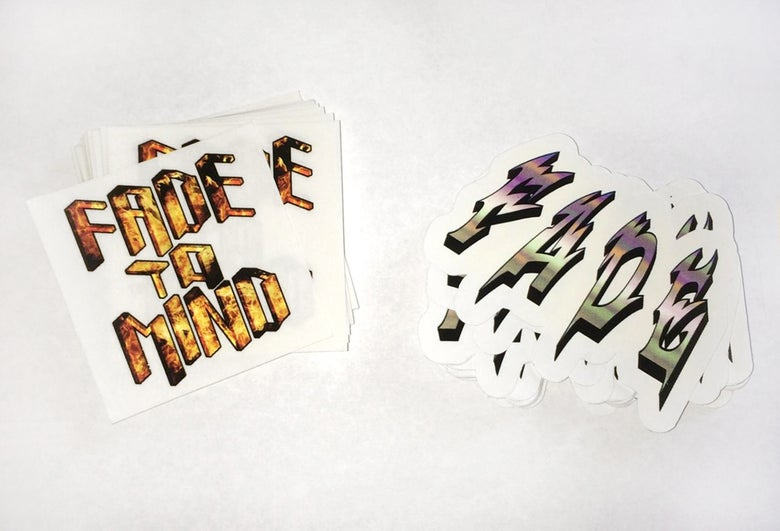 Image of FADE TO MIND Sticker 2-Pack