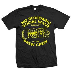"Image of NO REDEEMING SOCIAL VALUE ""Brew Crew"" T-Shirt"