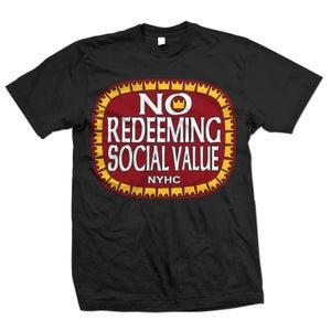 "Image of NO REDEEMING SOCIAL VALUE ""Olde E"" Logo T-Shirt"