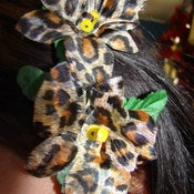 Image of Leopard Orchids - Rockabilly Hair Clip