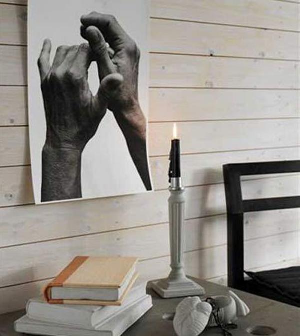 "Image of Tove Adman's Concrete Candlesticks - ""Gustavian"""