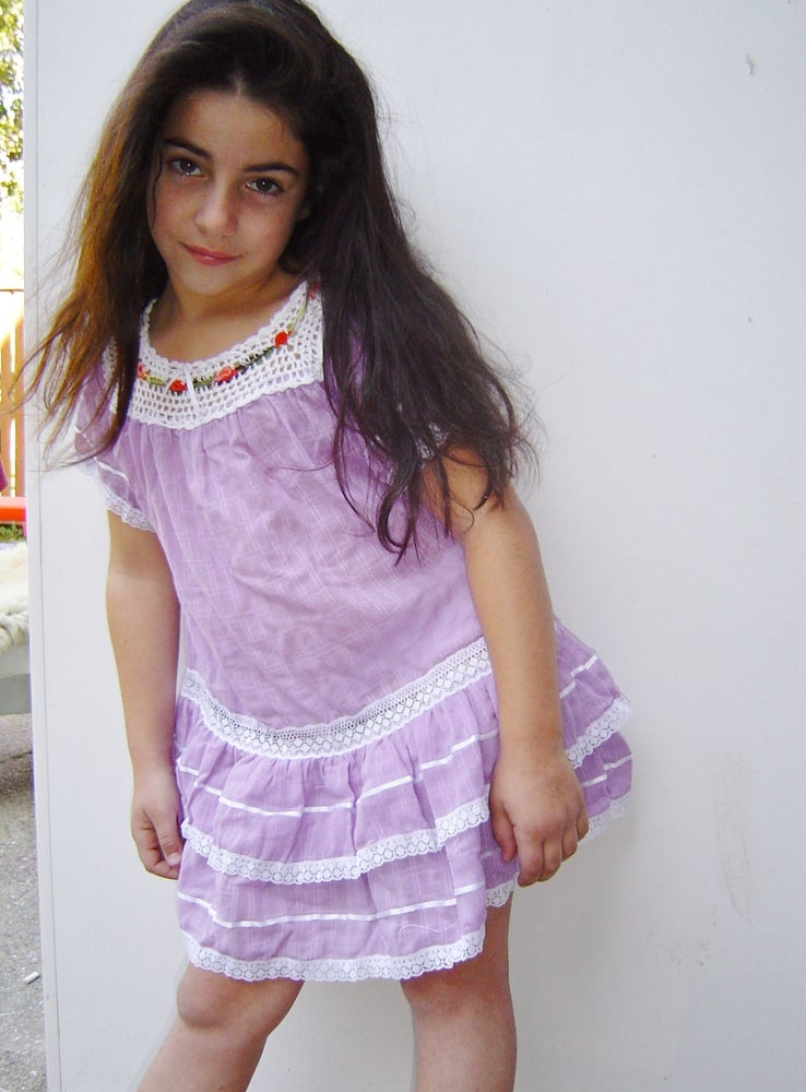Image of Hand Embroidered Ecuadorian Child's Dress: CDT14