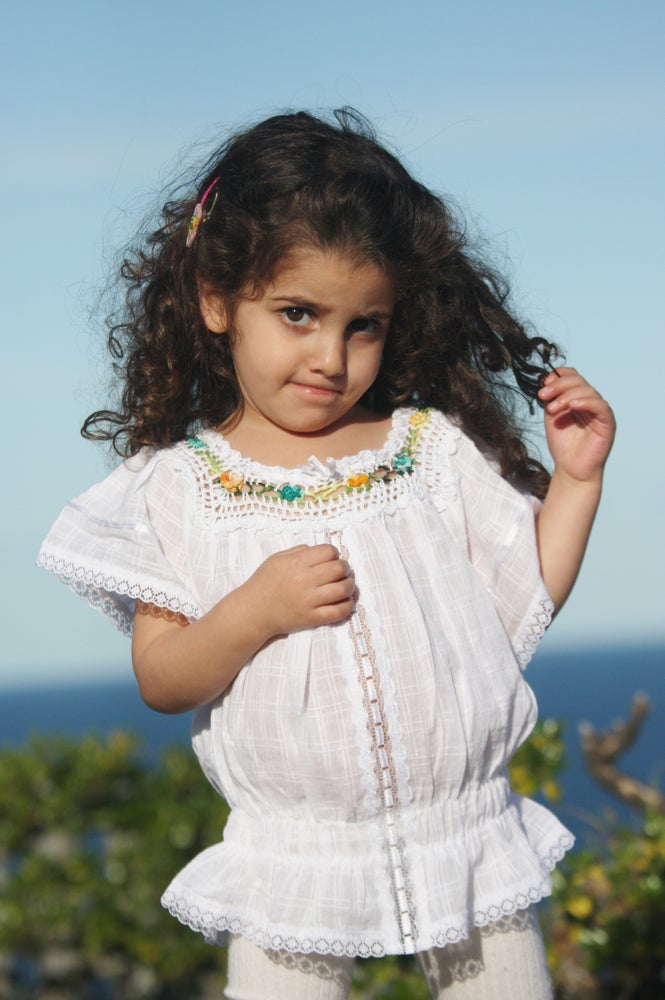 Image of Hand Enbroidered Ecuadorian Child's Top: CTT14