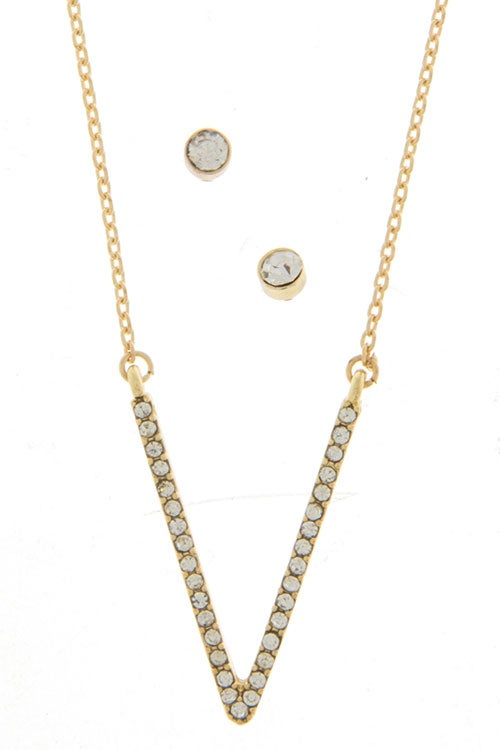 Image of V Line Necklace (also available in silver)