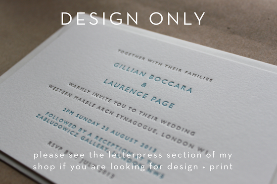 Image of Wedding Stationery Design set inc save the dates, RSVPs etc // 2 or 3 revisions