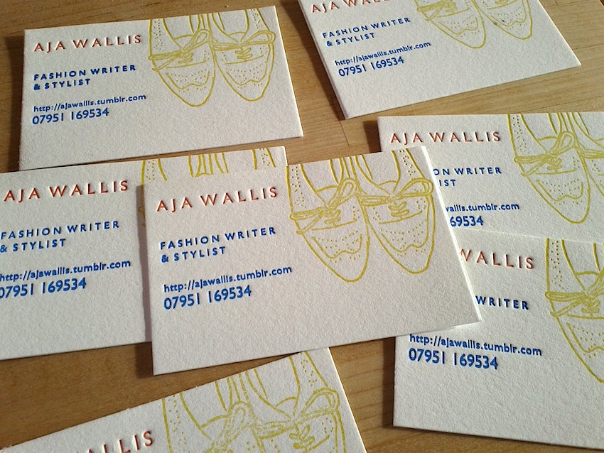 Image of Letterpress Business Cards, on Pure White Cotton stock // made to order - set of 200