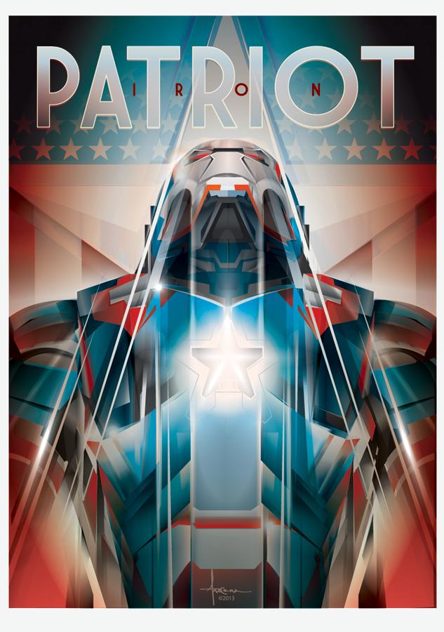 Image of IRON PATRIOT-Iroman vector tribute