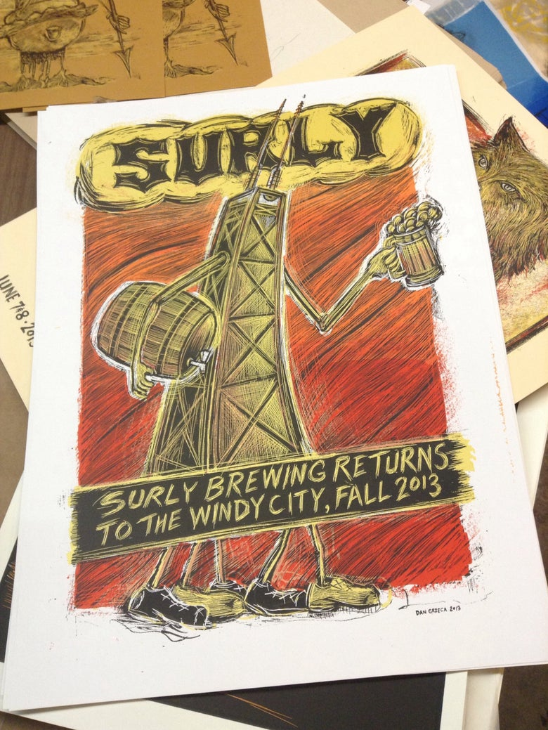 Image of Surly Brewing Chicago poster