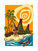 """Image of """"OUTRIGGER ISLAND"""" Serigraph"""