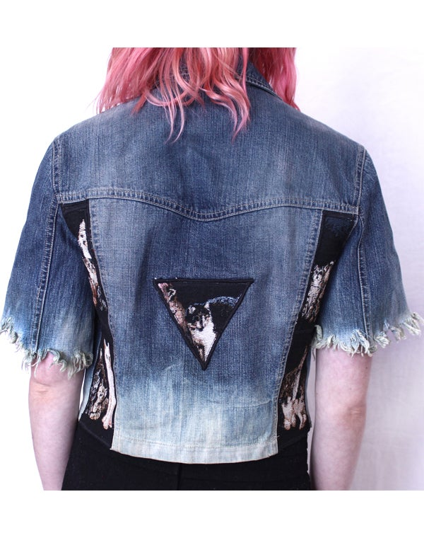 Image of CAT TRIANGLE TAPESTRY DENIM JACKET