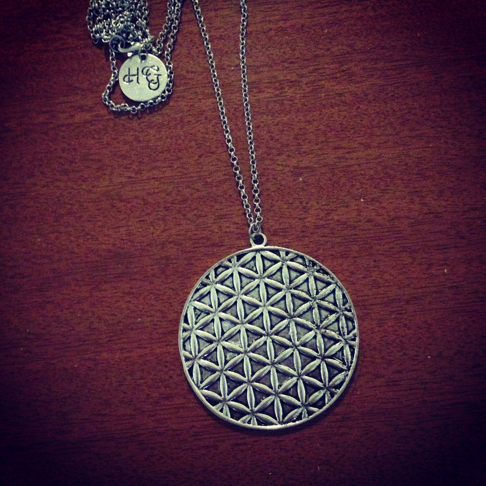 Image of Flower of life statement necklace