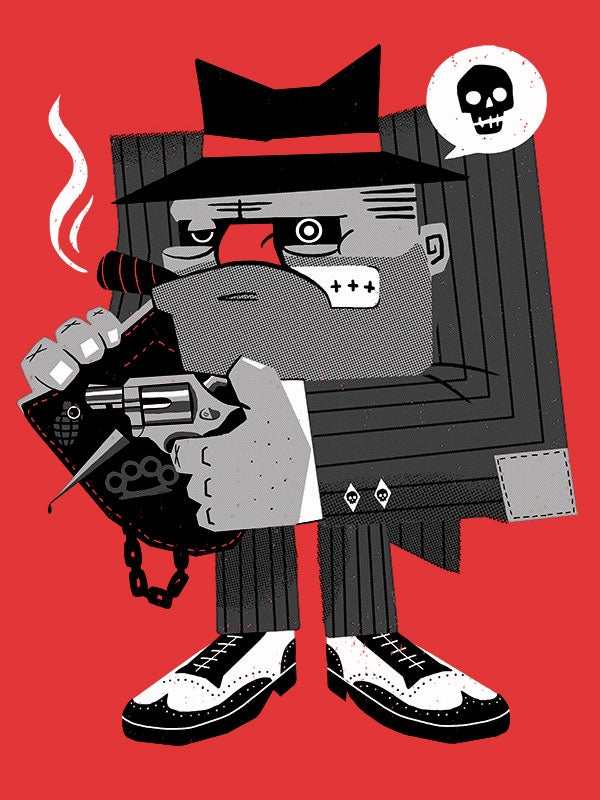 Image of 'The Enforcer' Print