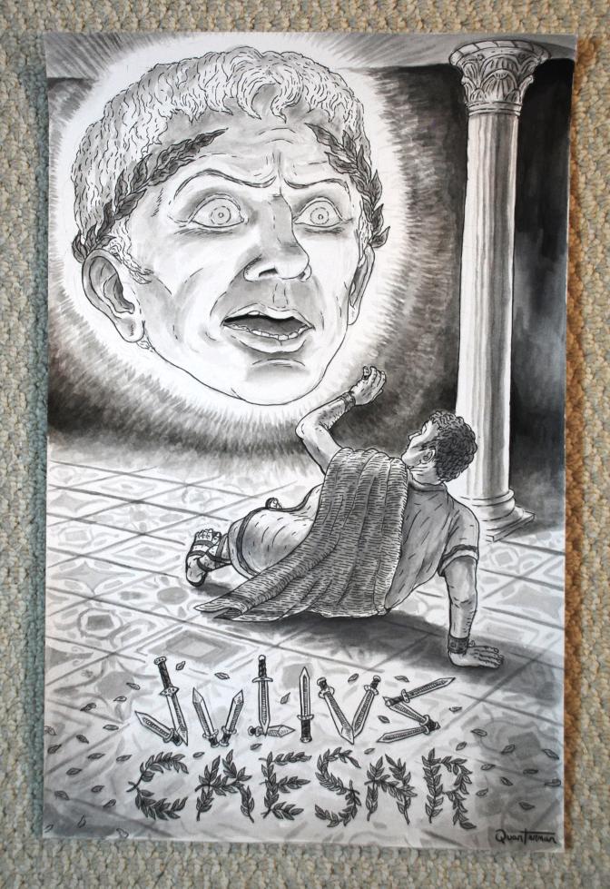 Image of Julius Caesar ORIGINAL painting