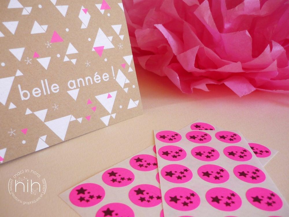 Image of stickers //fluo// nuée d'étoiles