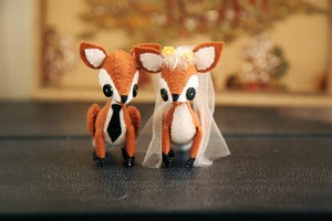 Image of Custom Fox Cake Toppers