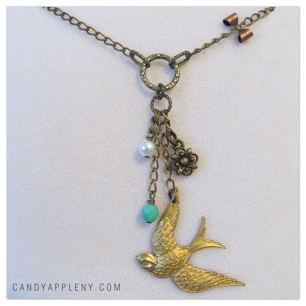 Image of Pretty Bird Golden Necklace - Originally 22.00