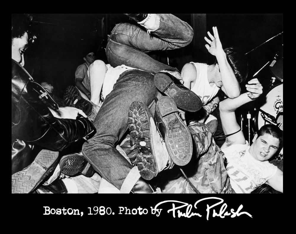 "Image of ""Boston 1980 / Boots"" Philin Phlash Men's Punk Shirt [Black]"
