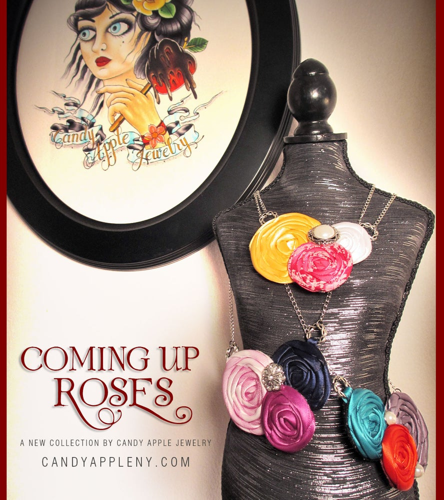 Image of Coming Up Roses • Blackberry Swirl Necklace - Originally 32.00