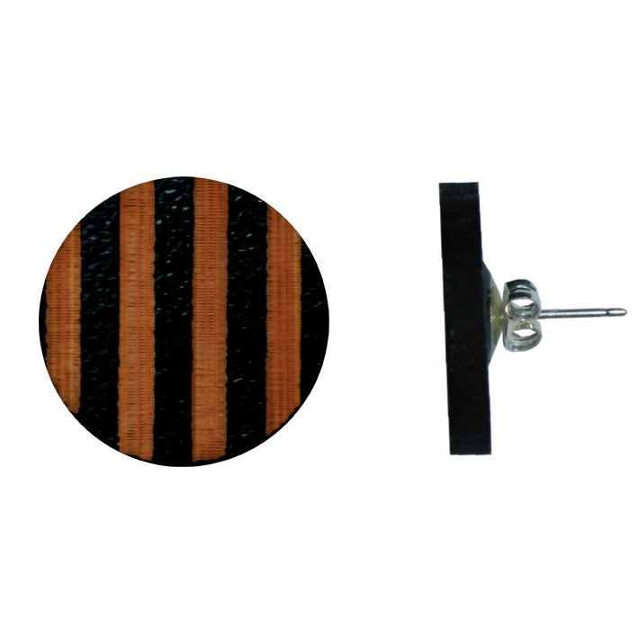 Image of Etched wooden 2cm stripe studs various colours