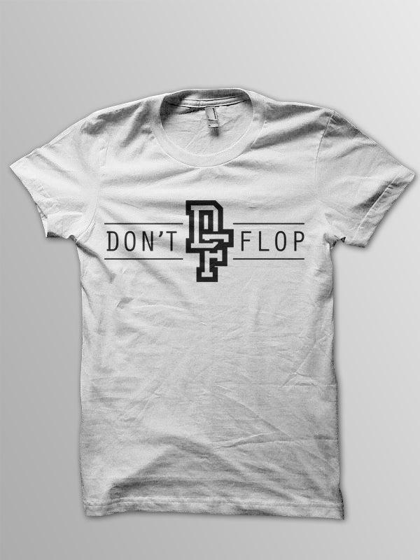 Image of Original Don't Flop Logo Tee | White