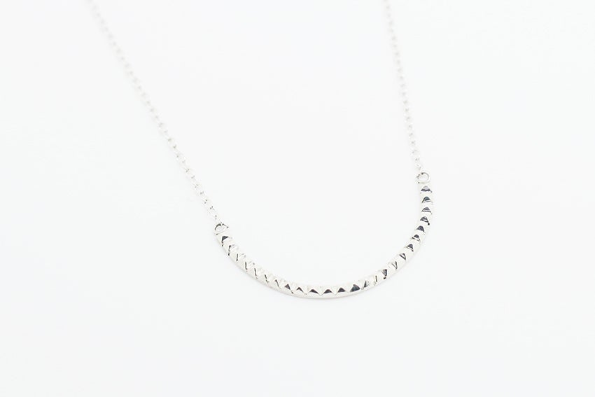 Image of Silver Arma studded necklace