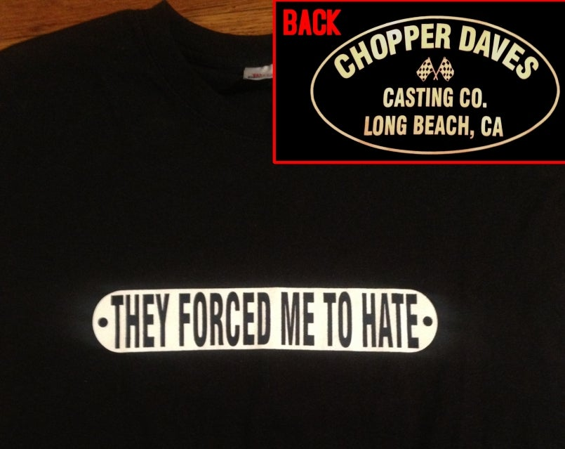 """Image of """"They Forced Me to hate"""" Zip-up Hoodie"""