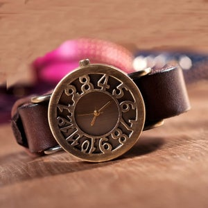Image of Women Watch, Leather Watch, Vintage Watch (WAT00242-2)