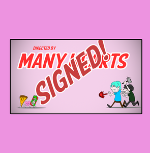 """Image of Signed: Many Hearts"""" January 2008"""" Title card"""