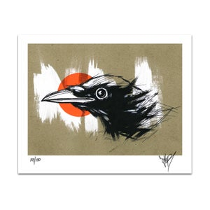 Image of CROW AT DUSK PRINT
