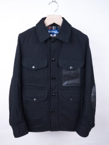 Image of Junya Watanabe MAN - Black Tartan Details Wool Jacket
