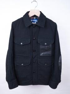 Image of Junya Watanabe MAN - Black Tartan Details Wool Jacket